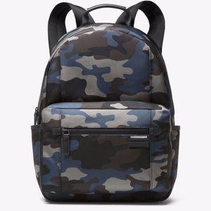 Michael Kors Mens Travis Blue Camo Backpack